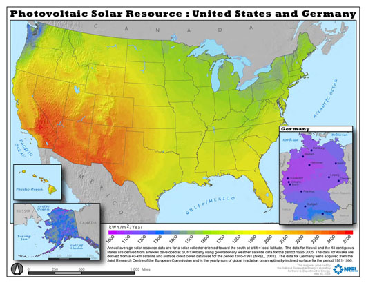 US Solar Potentia Vs. Germany